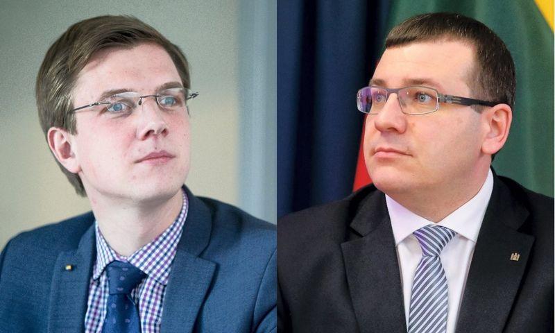 """Paulius Vertelka (kairėje), """"Infobalt"""" direktorius, ir Edvinas Kerza, krašto apsaugos viceministras. Juditos Grigelytės ir Vladimiro Ivanovo (VŽ) nuotr."""