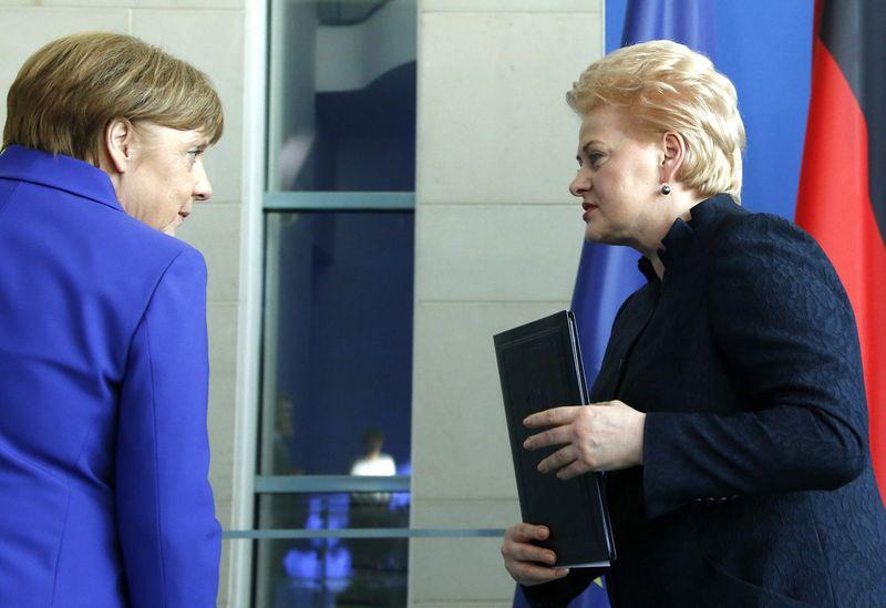 Angela Merkel, Dalia Grybauskaitė. Fabrizio Benscho (Reuters / Scanpix) nuotr.