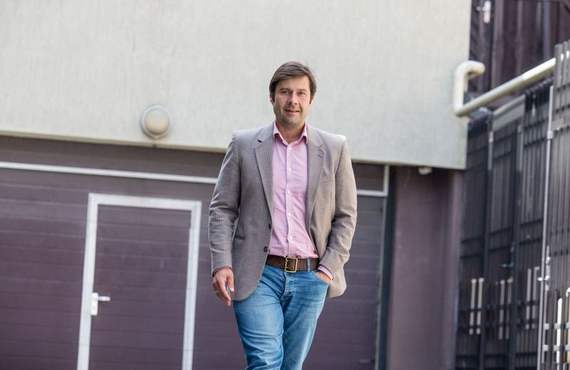 """Kasparas Jurgelionis, rizikos kapitalo fondų valdymo UAB """"Iron Wolf Capital Management"""" direktorius ir koncerno """"Achemos grupė"""" valdybos narys. Juditos Grigelytės (VŽ) nuotr."""