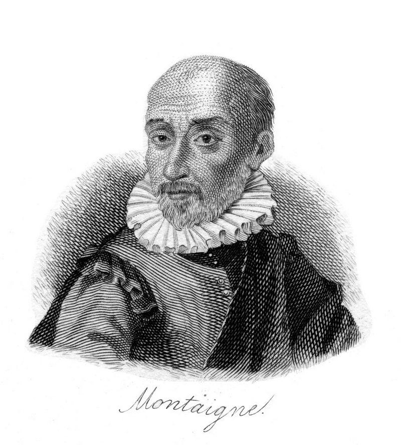 """Michelis de Montaigne'is skelbė, kad galutinis apmąstymų apie save tikslas yra prisijaukinti mirtį. """"TopFoto"""" piešinys"""