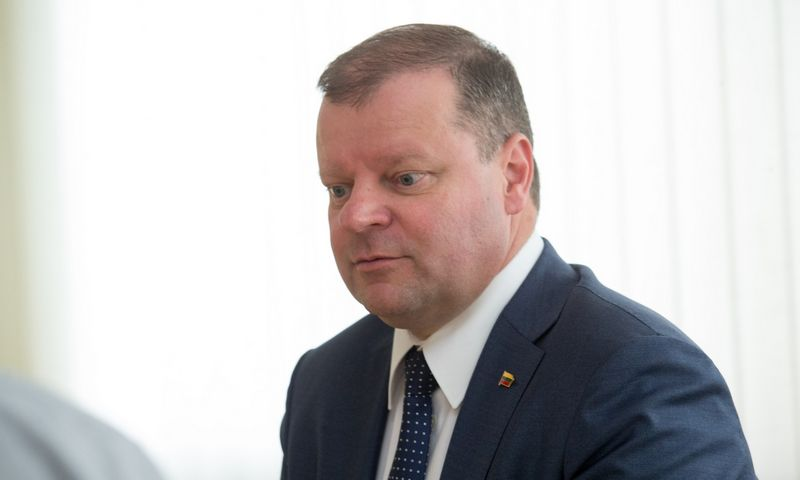 Lietuvos ministras pirmininkas Saulius Skvernelis. Juditos Grigelytės (VŽ) nuotr.