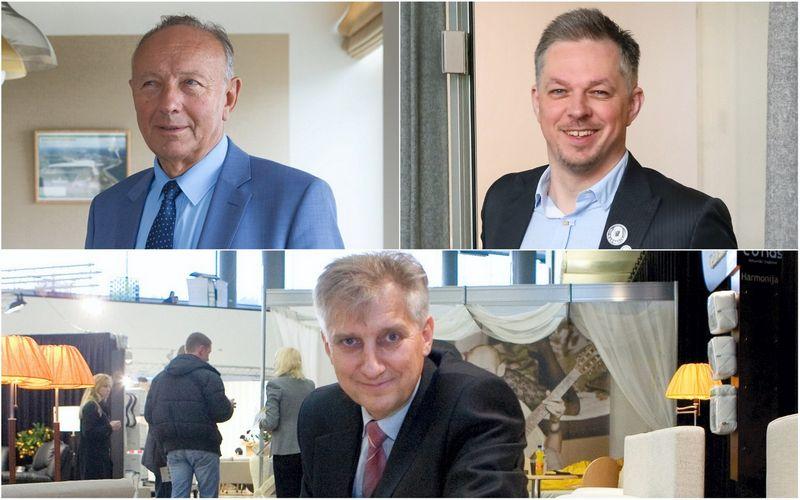 """Jonas Dastikas, AB """"Lifosa"""" vadovas, Mindaugas Snarskis, koncerno """"Vikonda"""" vadovas, Kazimieras Jakutis, """"Lono"""" įmonių grupės valdybos pirmininkas. VŽ montažas"""