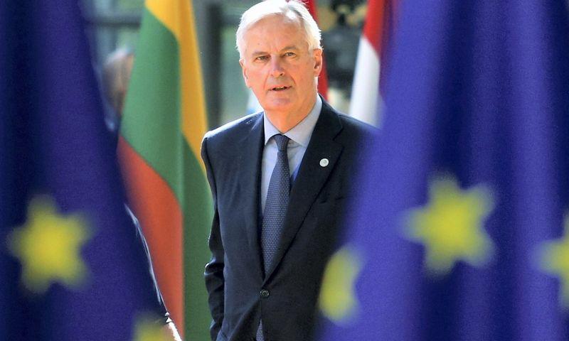 """Michelis Barnier, vyriausiasis ES derybininkas dėl Didžiosios Britanijos pasitraukimo iš Bendrijos: """"Laikotarpis, per kurį privalome susitarti, yra labai trumpas ir jis vis trumpėja."""" Francois Walschaertso (""""Reuters"""") nuotr."""