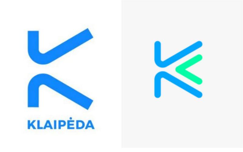 Kairėje – naujasis prekės ženklas, dešinėje – Daliaus Stuokaus darytas darbas.