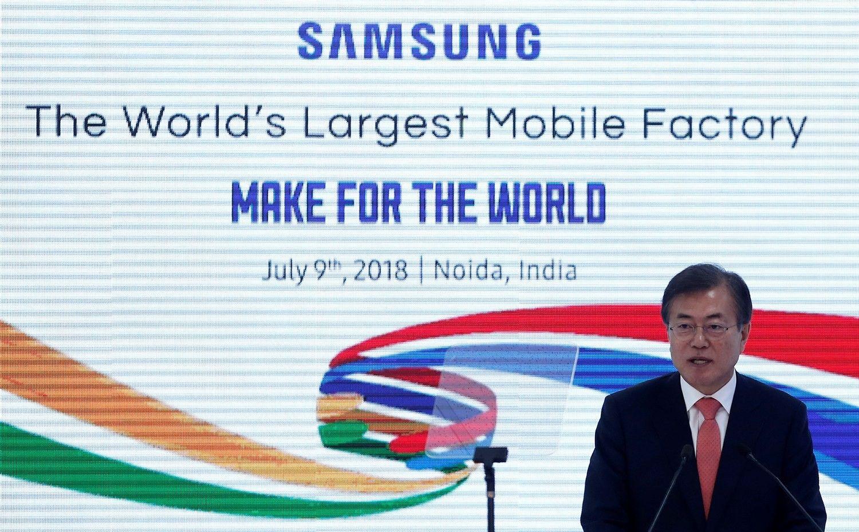"""""""Samsung"""" atidarė didžiausią mobiliųjų telefonų gamyklą pasaulyje"""