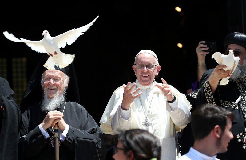 Popiežius Pranciškus Baryje (Italija), 2018 m. liepa. Tony Gentile/REUTERS nuotr.