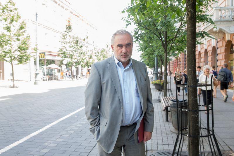 """Asociacijos """"Lietuvos keliai"""" direktorius Rimvydas Gradauskas. Juditos Grigelytės (VŽ) nuotr."""