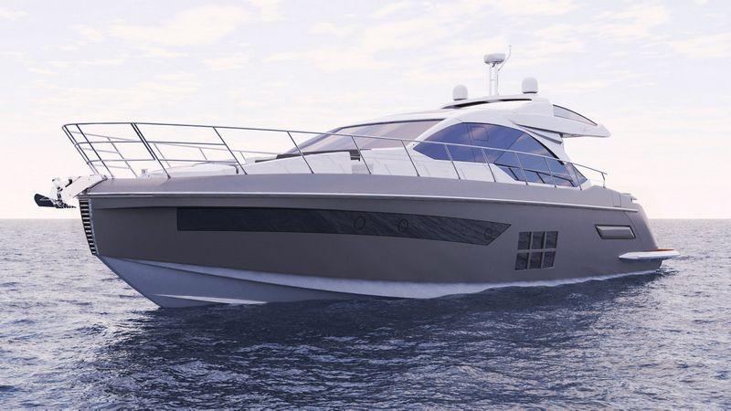 """Ir Lietuvoje parduodama 18m ilgio jachta """"Azimut S6"""" sujungia sportinį grakštumą ir eleganciją, ji """"ginkluota"""" 3-mis """"Volvo IPS800"""" varikliais, kurių bendra galia– net 2.400 AG."""