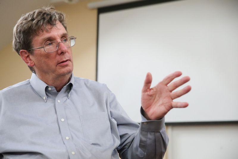 """Curtisas R. Carlsonas, buvęs pelno nesiekiančio JAV tyrimų centro """"SRI International"""" vadovas. Vladimiro Ivanovo (VŽ) nuotr."""