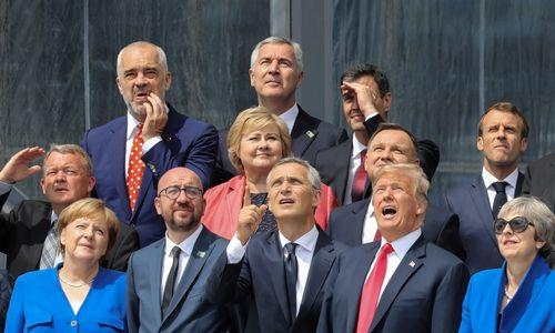 Trumpas užsiminė apie pasitraukimą iš NATO, tačiau galiausiai liko patenkintas