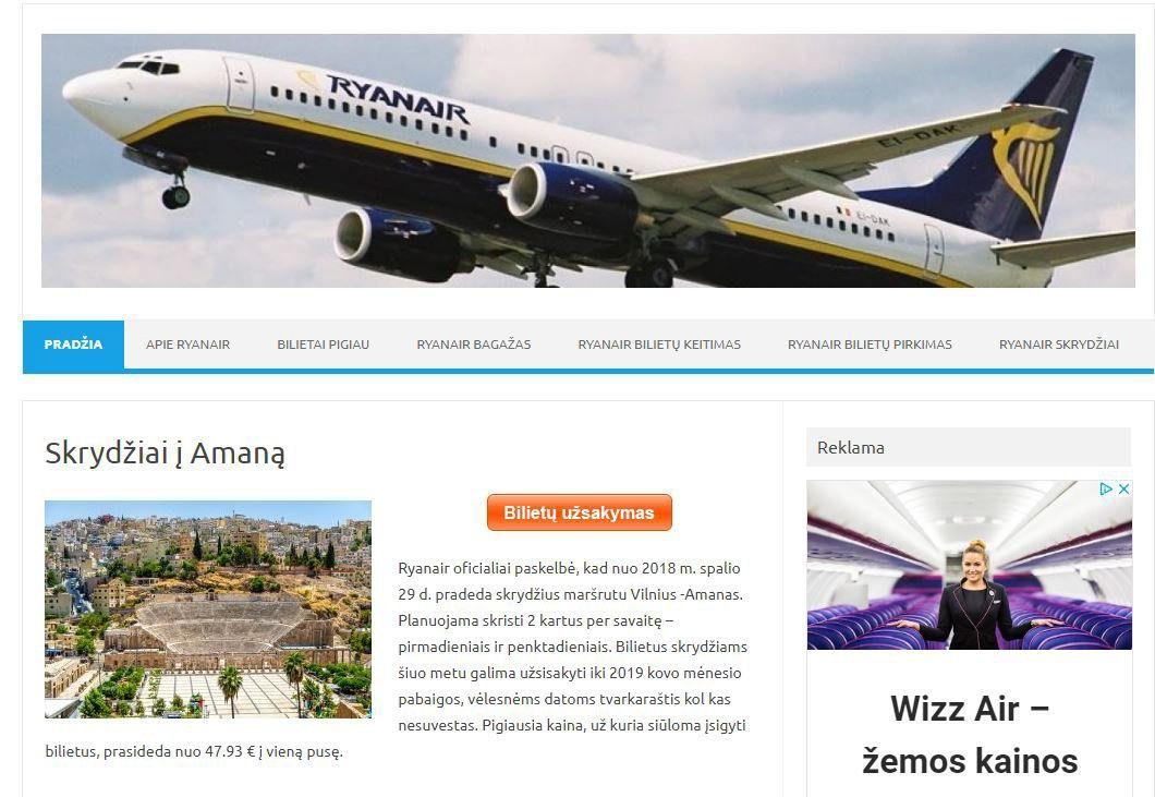 """Nubaudė įmonę, klaidinusią """"Ryanair"""" ir """"Wizz Air"""" klientus"""