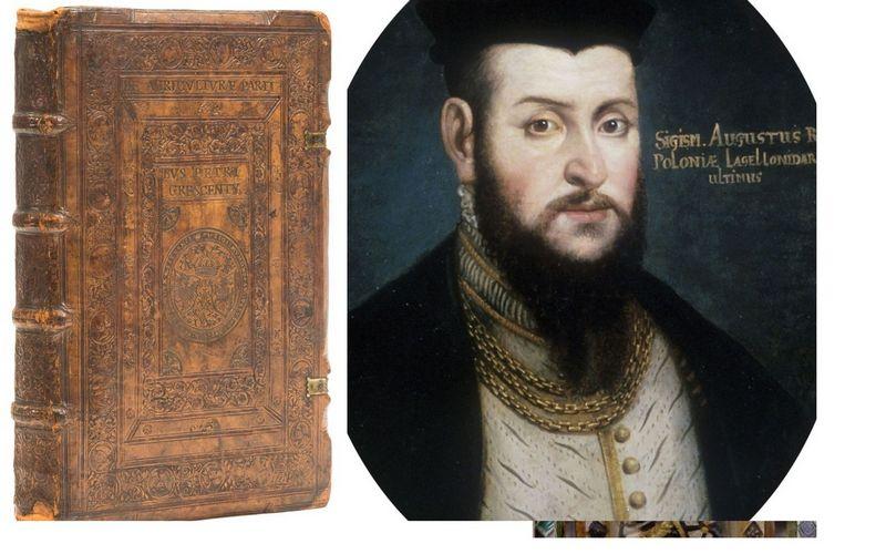 Aukcione parduota knyga iš Žygimanto Augusto bibliotekos.