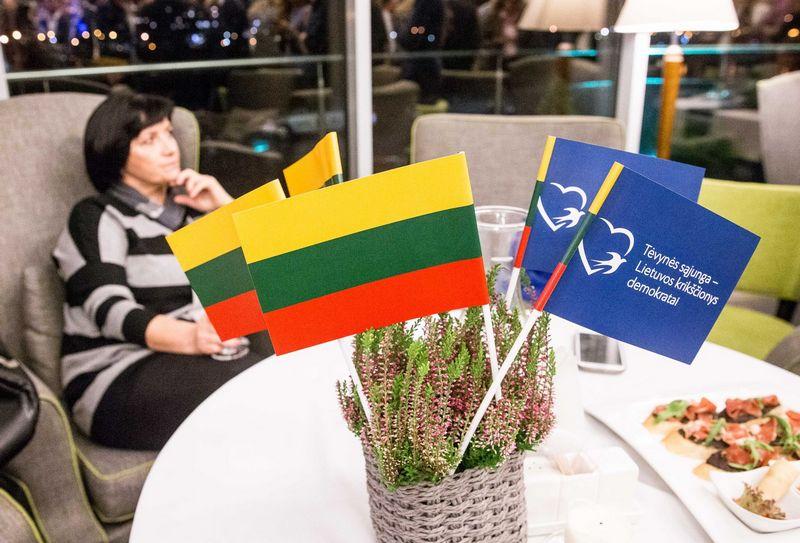 Tėvynės Sąjungos-Lietuvos krikščionys demokratai taps pirmąja partija Lietuvoje, savo remiamą kandidatą į prezidentus pasirinkę pirminiuose rinkimuose. Juditos Grigelytės (VŽ) nuotr.