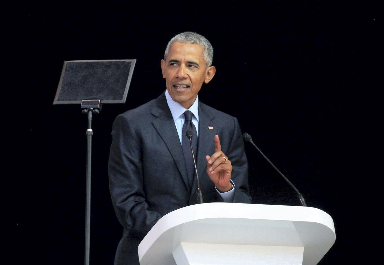 Obama kalboje neįvardijo Trumpo, bet užuomina buvo aiški