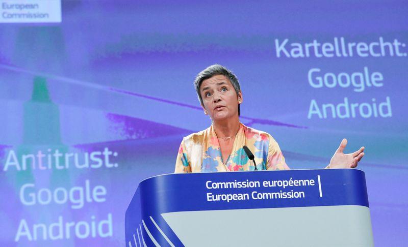"""Margrethe Vestager, už konkurencijos politiką atsakinga Komisijos narė.Yveso Hermano (""""Reuters""""/""""Scanpix"""") nuotr."""