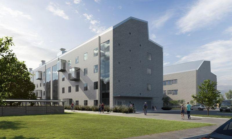 """""""Ryhov"""" ligoninės pastato vizualizacija."""
