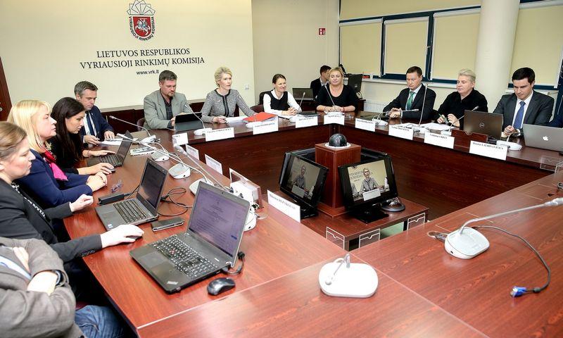 Vyriausiosios rinkimų komisijos posėdis.  Vladimiro Ivanovo (VŽ) nuotr.