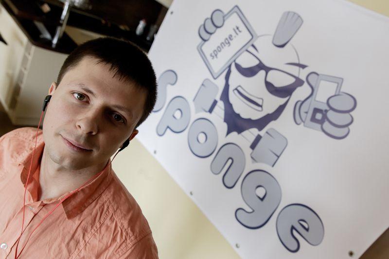 """Edgaras Gargažinas, UAB """"Sponge"""" vadovas. Vladimiro Ivanovo (VŽ) nuotr."""