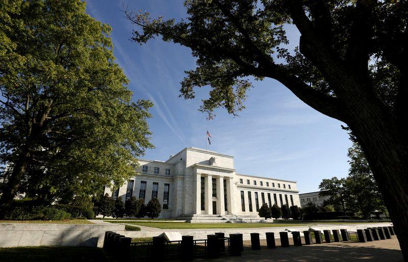 "Federalinio rezervų banko būstinė Vašingtone. Kevino Lamarque'o ( Reuters"" / ""Scanpix"") nuotr."