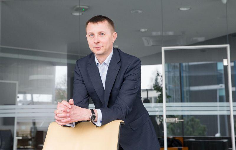 """Arvydas Jacikevičius, Lietuvos investicijų bendrovės """"INVL Asset Management"""" jaunesnysis fondų valdytojas. Juditos Grigelytės (VŽ) nuotr."""
