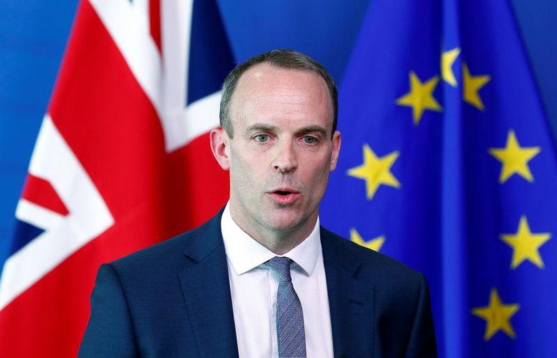 """JK """"Brexit"""" sekretorius Dominicas Raabas. Francois Lenoiro (""""Reuters"""" / """"Scanpix"""") nuotr."""