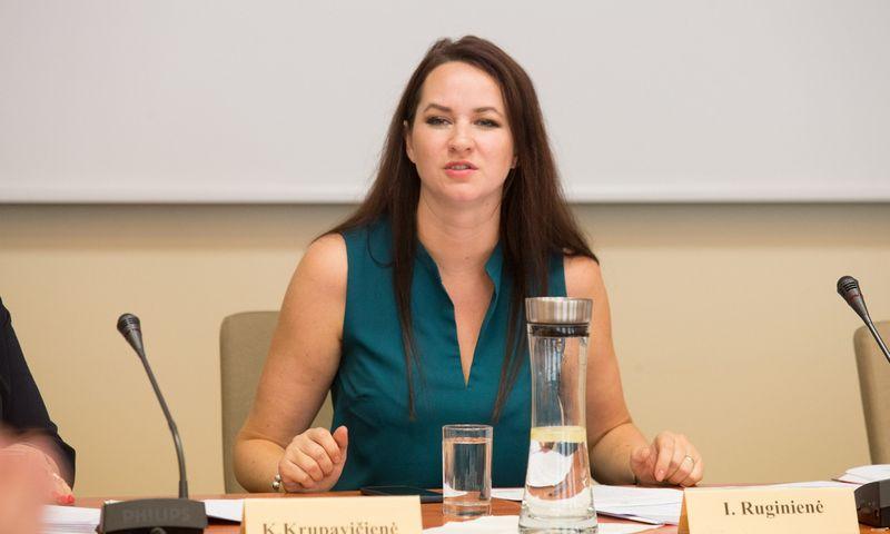 Trišalės tarybos posėdis.  Inga Ruginiene. Juditos Grigelytės (VŽ) nuotr.