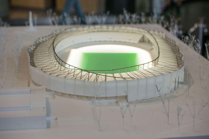 Kauno m. savivaldybė birželio viduryje su turkais  pasirašė 46 mln.Eur vertės stadiono rekonstrukcijos sutartį. Kauno m. savivaldybės nuotr.