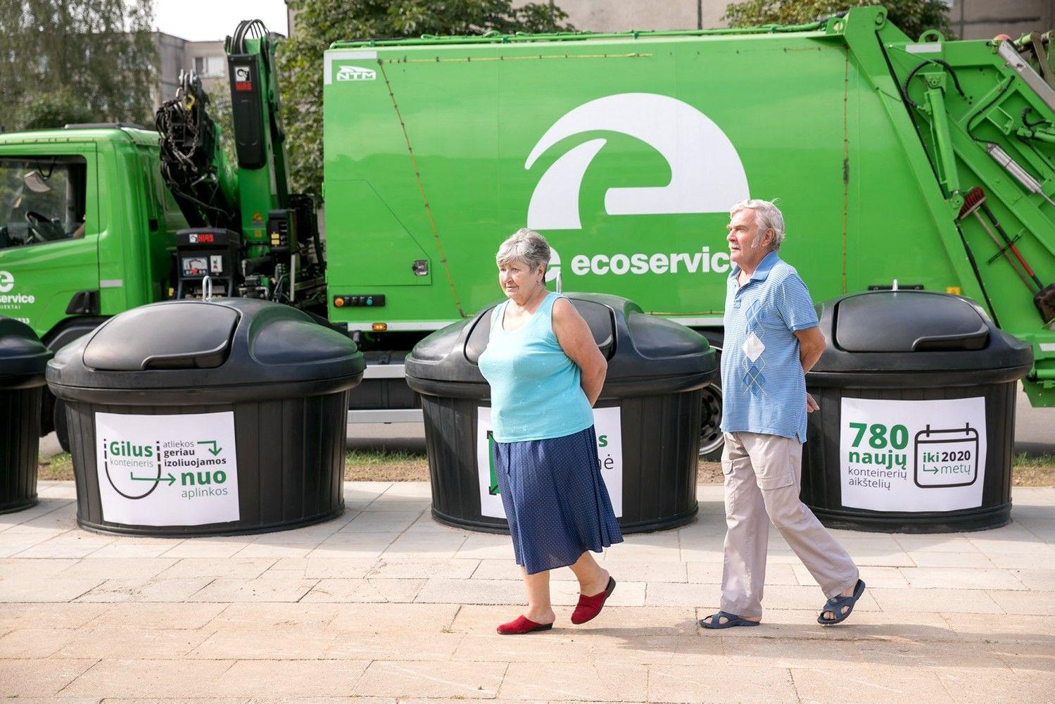 Vilniuje įrengti nauji požeminiai atliekų konteineriai