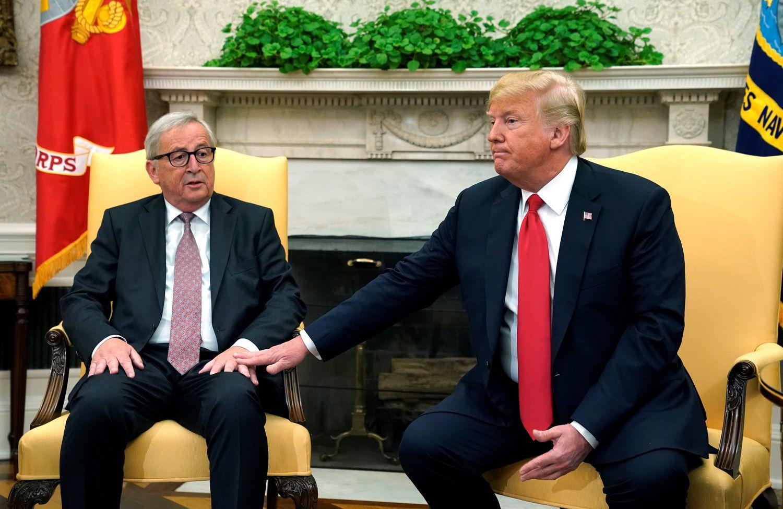 Junckerio ir Trumpo prekybinis susitarimas: paliaubos, bet dar ne taika