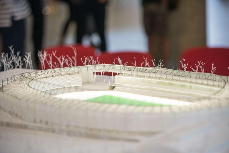 Teisminiai ginčai dėl Kauno S/ Dariaus ir S. Girėno stadiono rekonstrukcijos krypsta konkursą laimėjusios Turkijos įmonės naudai. Kauno m. savivaldybės nuotr.