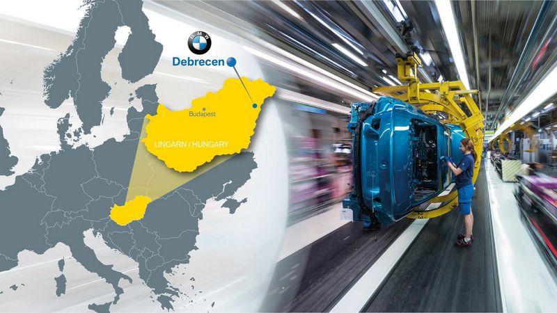 BMW ketina statyti naują gamyklą netoli Debreceno miesto. BMW AG nuotr.