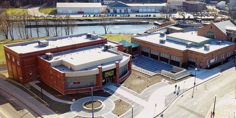 Nacionalinis komedijos muziejus Džeimstaune, Niujorko valstijoje (JAV).  NCC nuotr.