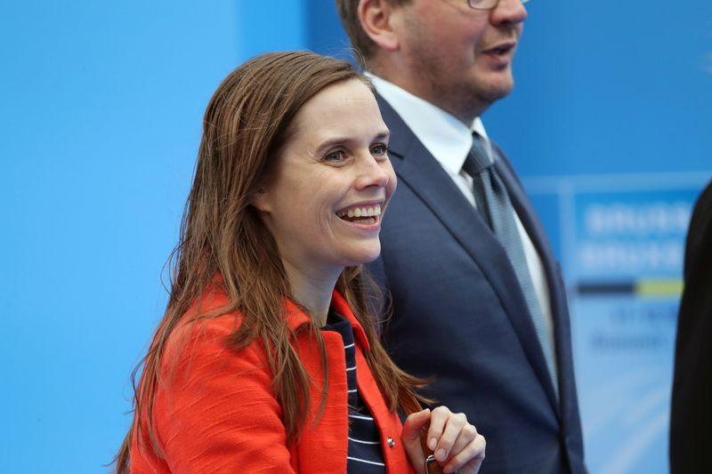 """Islandijos premjerė Katrin Jakobsdottir. """"Reuters"""" / """"Scanpix"""" nuotr."""