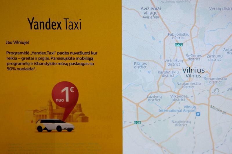 Yandex Taxi skrajutės. Vladimiro Ivanovo (VŽ) nuotr.