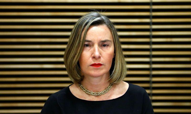 "Europos Sąjungos diplomatijos vadovė Federica Mogherini. Francoiso Lenoiro (""Reuters"" / ""Scanpix')  nuotr."