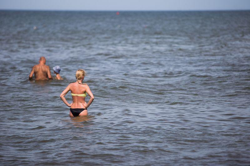"Palangos paplūdymyje. Josvydo Elinsko/""Scanpix"" nuotr."