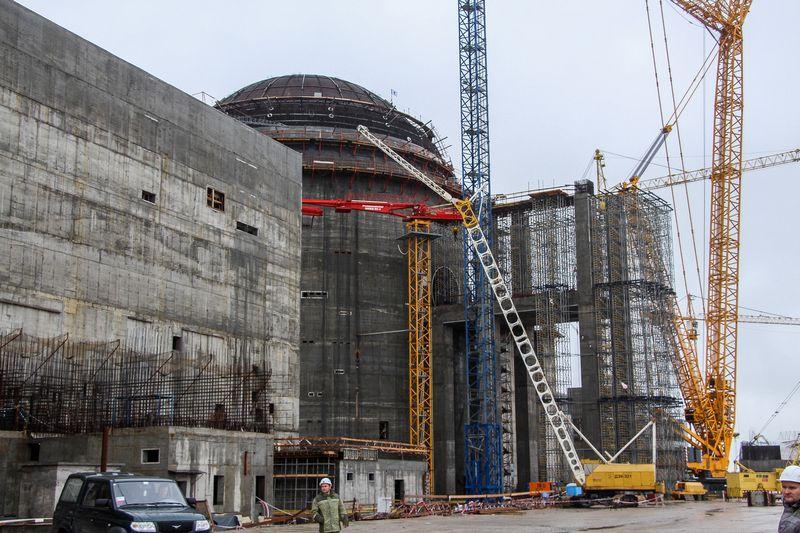 """Baltarusijos atominės elektrinės statybos. Ernesto Naprio (""""15min""""/""""Scanpix"""") nuotr."""