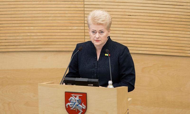 2018-06-12, Prezidentė Dalia Grybauskaitė Seime skaito devintą metinį pranešimą. LR Seimas.  2018 m. Birželio 12 d.