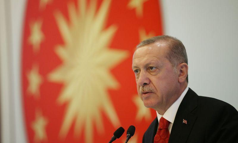 """Turkijos prezidentas Recepas Tayyipas Erdoganas. Murato Kula (""""Reuters"""" / """"Scanpix"""") nuotr."""