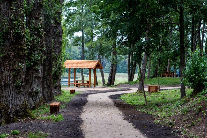 Stovyklavietė prie Skaisčio ežero Trakų rajone. Valstybinių miškų urėdijos nuotr.