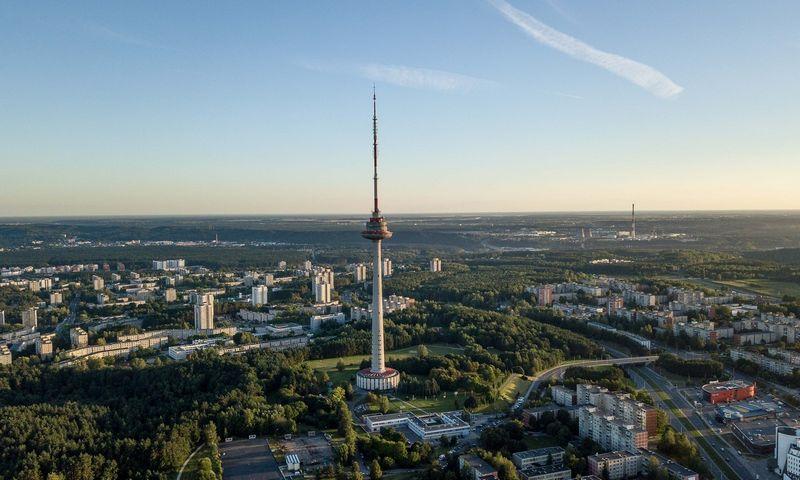 Vilniaus vaizdai iš paukščio skrydžio. Karoliniškių mikrorajonas. Vladimiro Ivanovo (VŽ) nuotr.