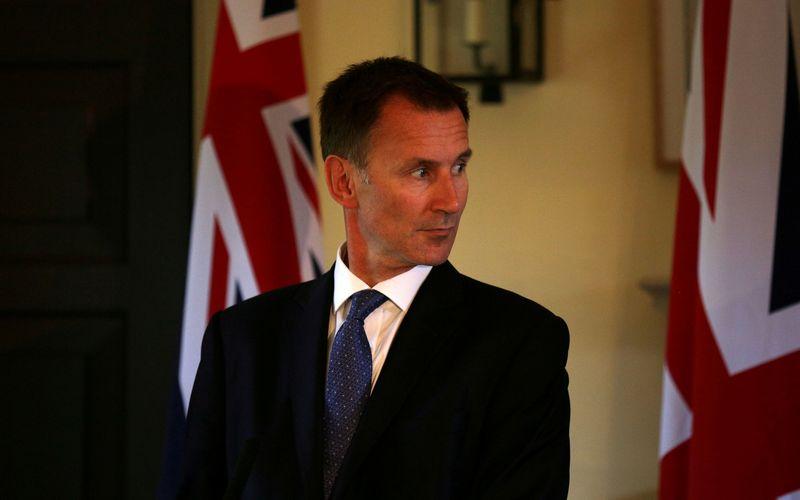 """Jk užsienio reikalų sekretorius Jeremy Huntas. Davido Cheskino (""""Reuters"""" / """"Scanpix"""") nuotr."""