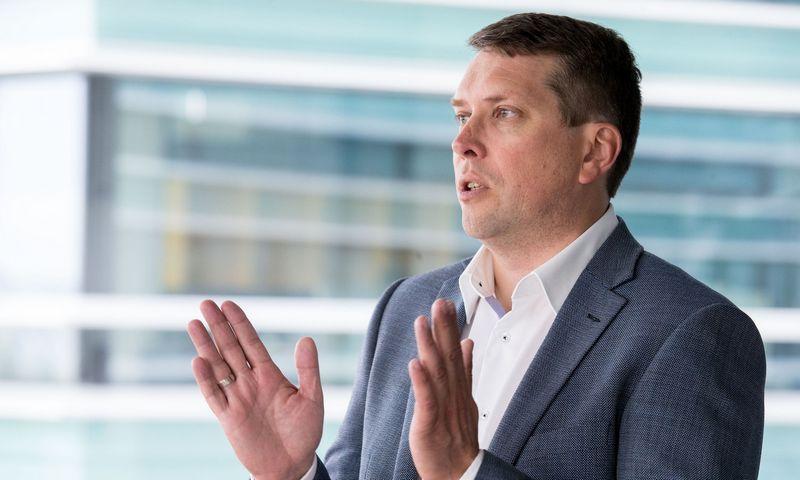 """Mindaugas Kulbokas, NT paslaugų bendrovės """"Newsec"""" Rinkos tyrimų ir analizės padalinio vadovas Baltijos šalyse. Juditos Grigelytės (VŽ) nuotr."""