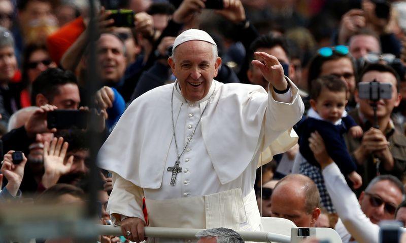 """Popiežius Pranciškus Lietuvoje lankysis rugsėjo 22–23 dienomis. Stefano Rellandini (""""Reuters"""" / """"Scanpix"""") nuotr."""