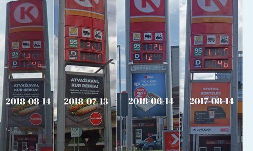 Naftai pingant, degalų kainos toliau kyla