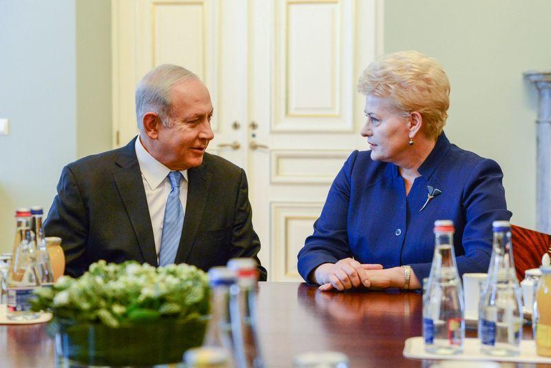 Prezidentė Dalia Grybauskaitė susitiko su Izraelio premjeru Benjaminu Netanyahu. Prezidento kanceliarijos nuotr.