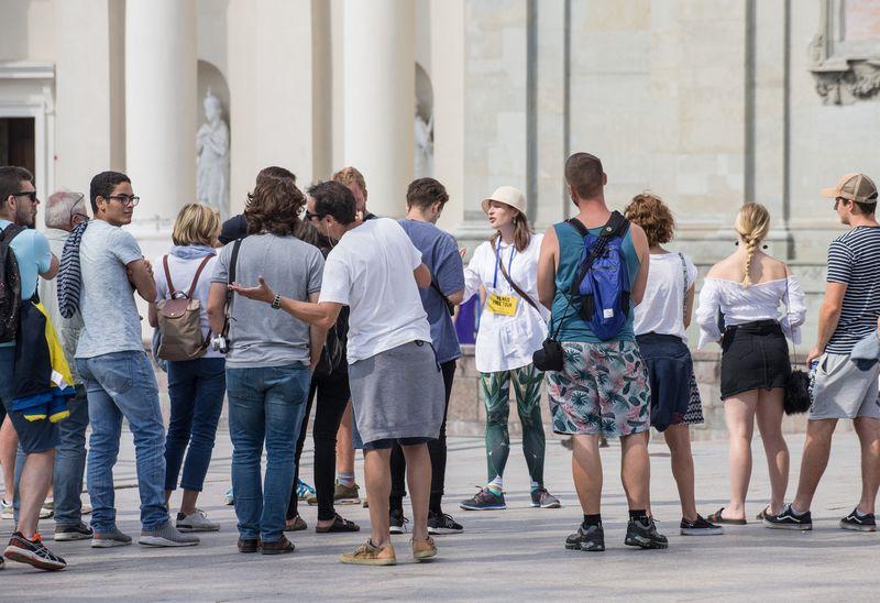 Turistai Vilniuje. Juditos Grigelytės (VŽ) nuotr.