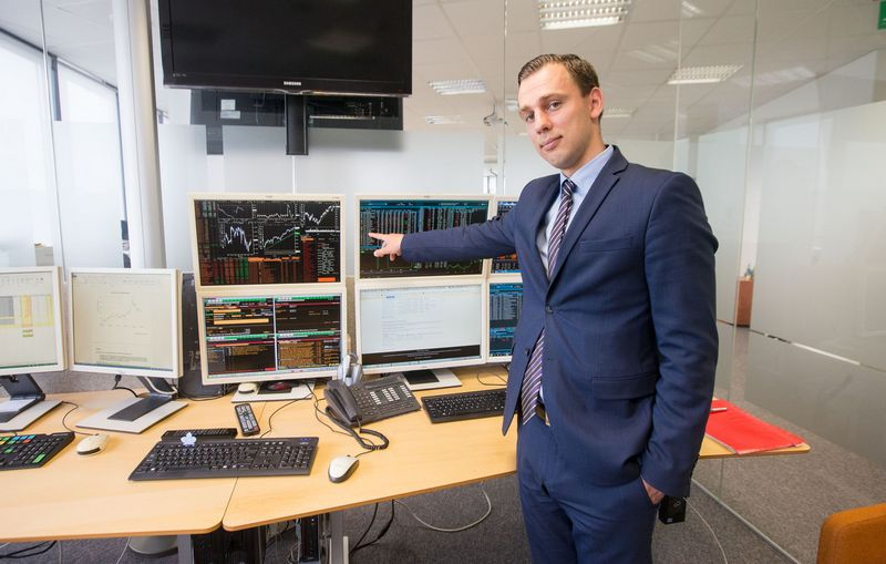 Simonas Jurgionis, SEB banko Kapitalo rinkų skyriaus vyriausiasis dileris. Juditos Grigelytės (VŽ) nuotr.