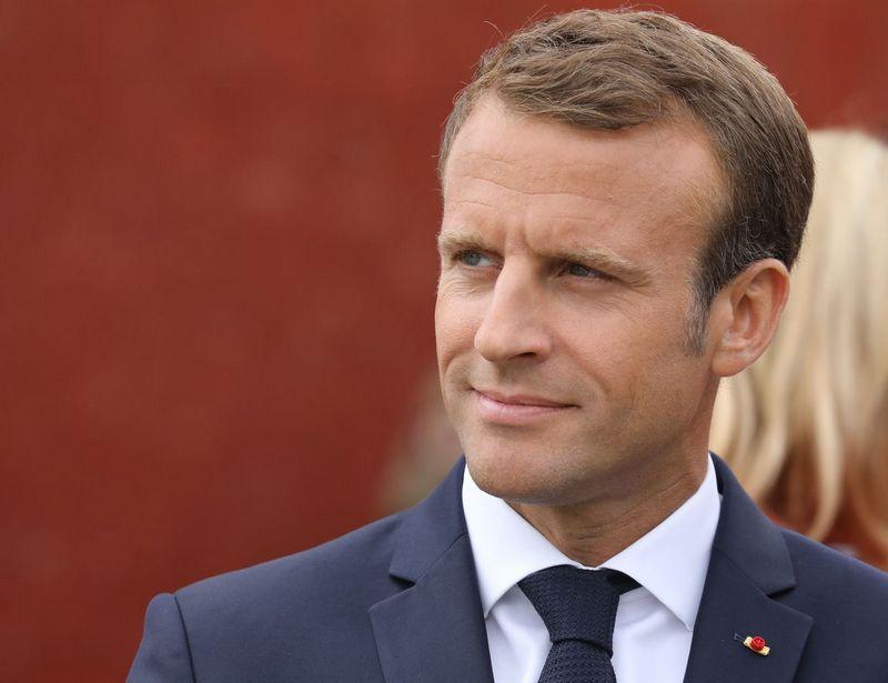 """Prancūzijos prezidentas Emmanuelis Macronas. Ludoviciaus Marino (""""SIPA"""" / """"Scanpix"""") nuotr."""