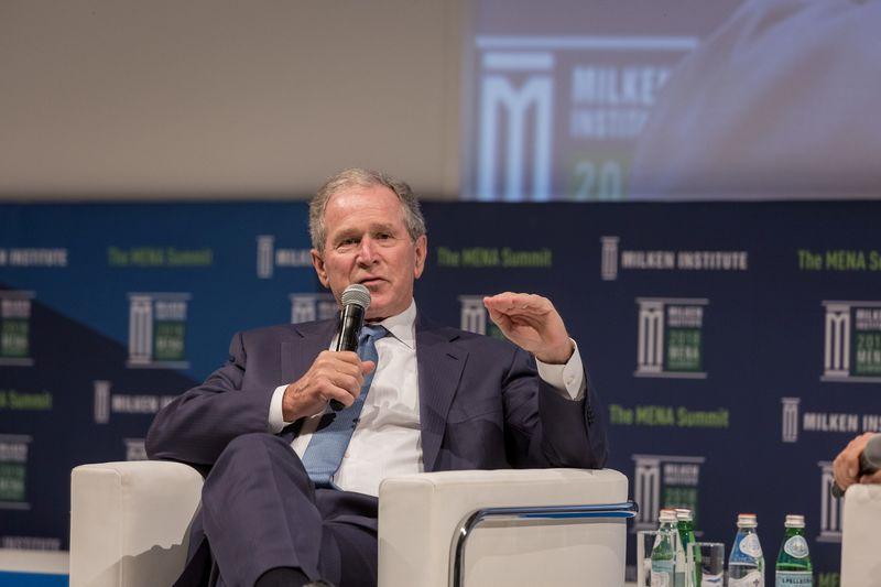 """G. W. Bushas, 43-iasis Jungtinių Valstijų prezidentas. """"Reuters"""" / """"Scanpix"""" nuotr."""